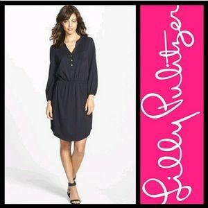 Lilly pulitzer Beckett shirt dress in black